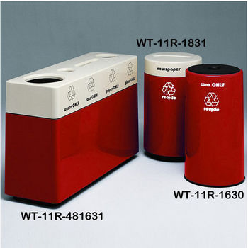 Earth Red Fiberglass Recycling Containers