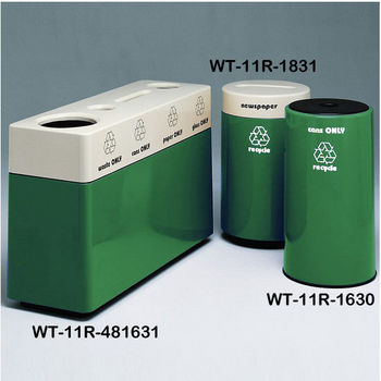 Anastasia Emerald Fiberglass Recycling Containers