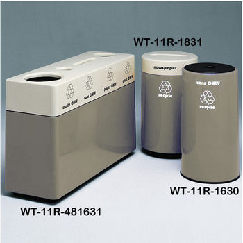 Gray Fiberglass Recycling Containers