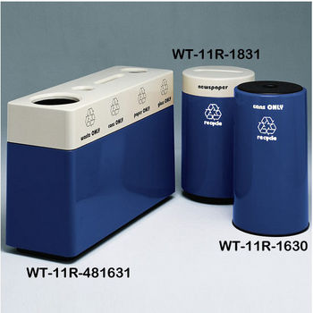 Navy Blue Fiberglass Recycling Containers