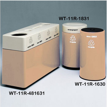 Peach Fiberglass Recycling Containers
