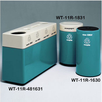 Teal Fiberglass Recycling Containers