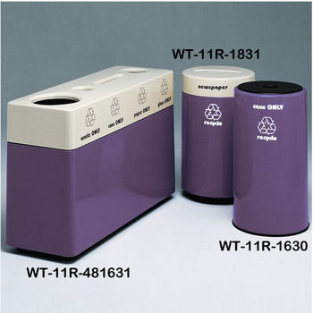 Violet Fiberglass Recycling Containers