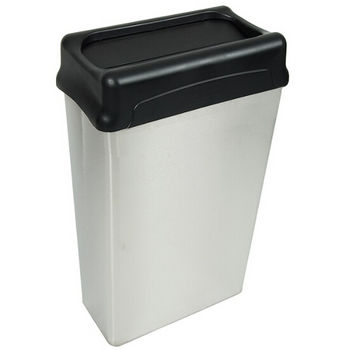 Witt Rectangular Waste Basket With Drop Top