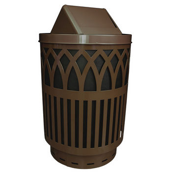 Witt Outdoor Receptacle With Laser Cut Design