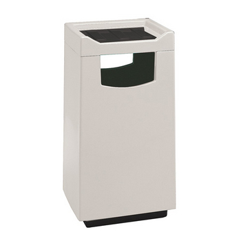 30 Gallon Fiberglass Food Court Receptacles with Push Door - WT-77S-2040FCDSP