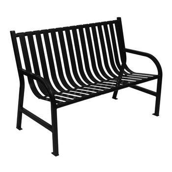 """48"""" Black Bench"""