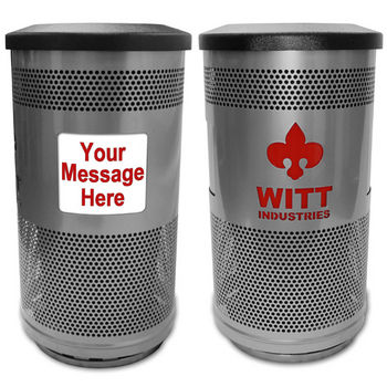 Witt - 35 Gal. Message Center with Custom Logo and Ad Panels