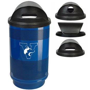 Witt - 55 Gal. Custom Logo Unit with Dome Top Lid with Plastic Liner