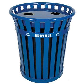 Wydman Slatted Metal Recycling Receptacle