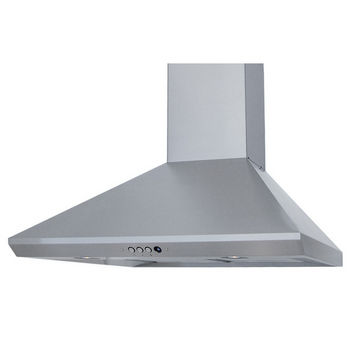 "Windster - Wall Mounted Range Hood with Duct Cover, 30"" W - 36"" W, Stainless Steel"