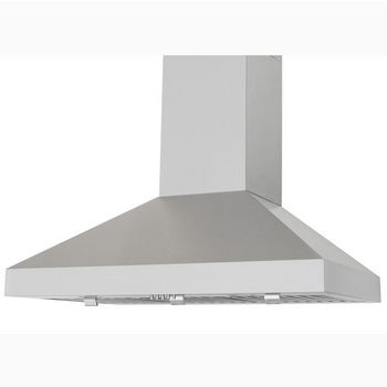 "Windster Wall-Mount Range Hood with 8-9' Duct Cover Included, Stainless Steel, 30""-48"" W"