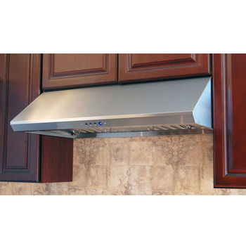 Range Hoods Ra 34l Series Under Cabinet Range Hood With Brushed Stainless Steel Construction By Windster Kitchensource Com