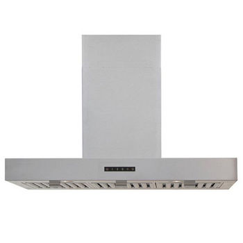 Windster WS-63TB Series 36'' or 42'' Stainless Steel Island Range Hood, 8 - 9 FT DC Included